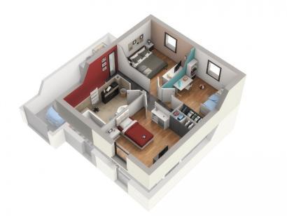 Plan de maison ONYX 3 chambres  : Photo 2