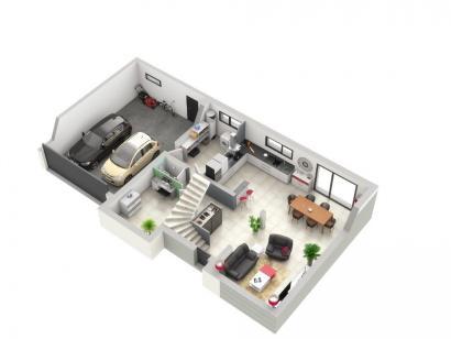 Plan de maison PLATINE 4 chambres  : Photo 1