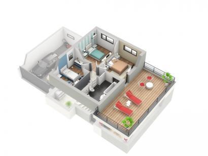 Plan de maison PLATINE 4 chambres  : Photo 2