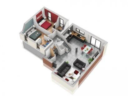 Plan de maison TITANE 5 chambres  : Photo 2
