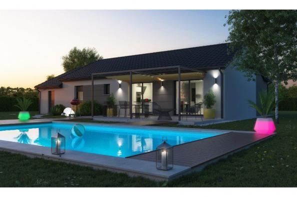 Modèle de maison TURQUOISE VS contemporain 3 chambres  : Photo 2