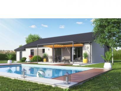 Modèle de maison TURQUOISE VS contemporain 3 chambres  : Photo 4