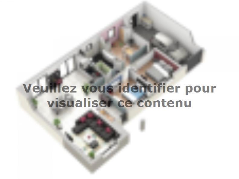 Plan de maison TURQUOISE VS contemporain : Vignette 1