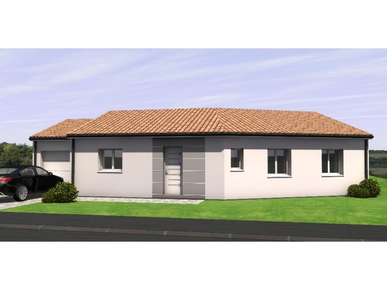 Modèle de maison Avant Projet Falleron 90 m² - 3 Chambres : Vignette 1