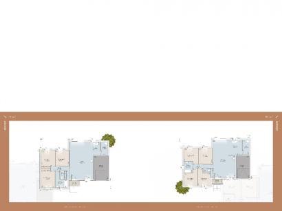 Plan de maison Aixoise 100 m² 3 chambres  : Photo 1