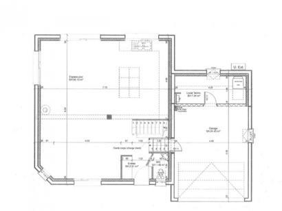 Plan de maison ETG_DN_GA_134m2_3ch_P7289 3 chambres  : Photo 1