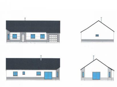 Plan de maison PLP_R_GI_92m2_3ch_P16048 3 chambres  : Photo 1