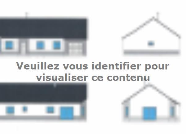 Plan de maison PLP_R_GI_92m2_3ch_P16048 : Vignette 1