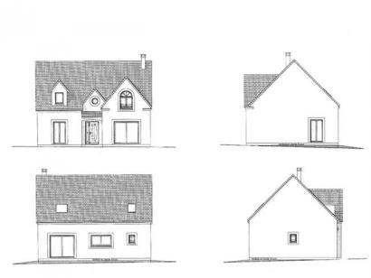 Plan de maison ETG_R_SG_134m2_4ch_P10634 4 chambres  : Photo 3