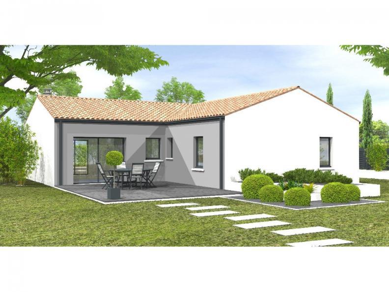 Modèle de maison Avant-projet POUZAUGES -90 m² - 3 chambres _Duplic : Vignette 1