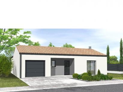 Modèle de maison Avant-projet POUZAUGES -90 m² - 3 chambres _Duplic 3 chambres  : Photo 2