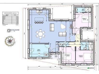 Modèle de maison Maison 110m2 - 3CH - (PP AN 122911016) 3 chambres  : Photo 4