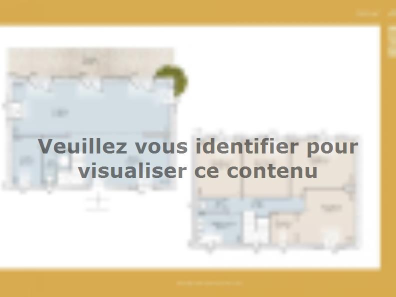 Plan de maison Bastide 92 contemporaine : Vignette 1