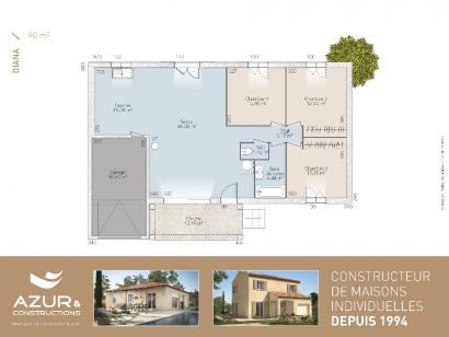 Plan de maison Diana contemporaine 3 chambres  : Photo 1