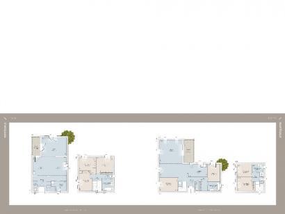 Plan de maison Martegale contemporaine 4 chambres  : Photo 1