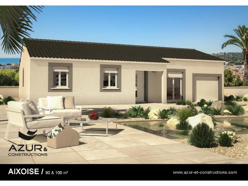 Modèle de maison Aixoise 90m² contemporaine : Vignette 1