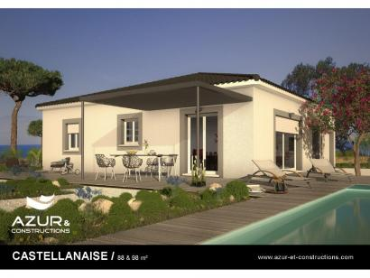Modèle de maison CASTELLANAISE 98 contemporaine 3 chambres  : Photo 1