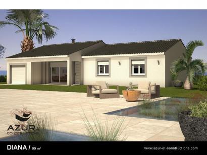 Modèle de maison Diana contemporaine 3 chambres  : Photo 1