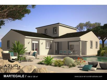 Modèle de maison Martegale contemporaine 4 chambres  : Photo 1
