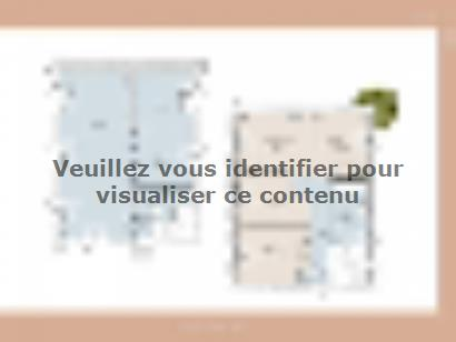 Plan de maison Mas 100 Contemporaine 3 chambres  : Photo 1