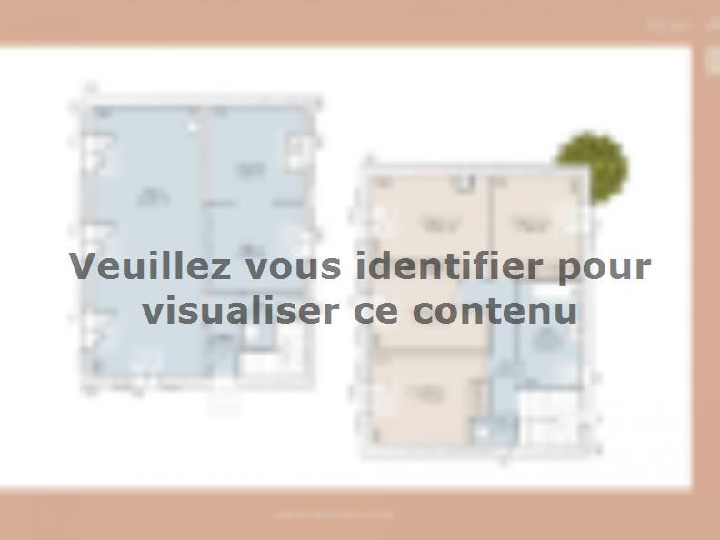 Plan de maison Mas 100 Contemporaine : Vignette 1