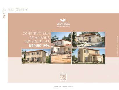 Plan de maison Mas 100 Contemporaine 3 chambres  : Photo 2