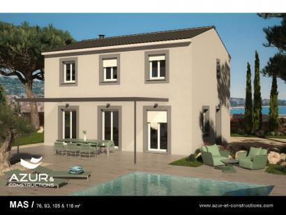 Modèle de maison Mas 100 Contemporaine 3 chambres  : Photo 1