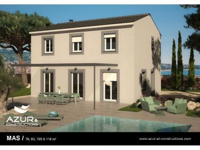Modèle de maison Mas 115 CONTEMPORAINE 3 chambres  : Photo 1