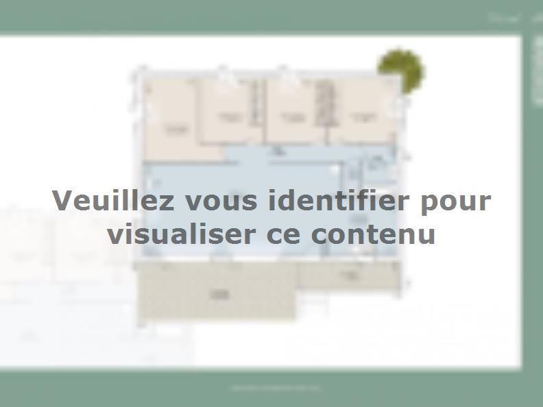 Plan de maison Monegasque 105 CONTEMPORAINE : Vignette 1