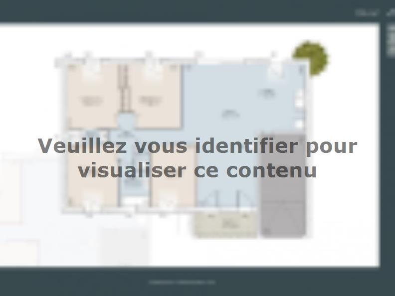 Plan de maison Nimoise 100 CONTEMPORAINE : Vignette 1