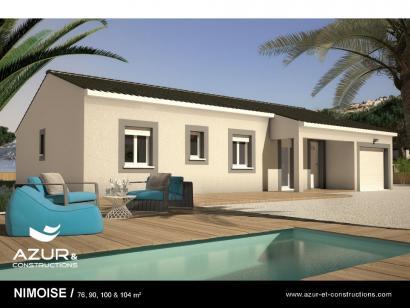 Modèle de maison Nimoise 100 CONTEMPORAINE 4 chambres  : Photo 1