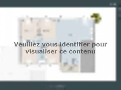 Plan de maison Nimoise 76 CONTEMPORAINE 2 chambres  : Photo 1