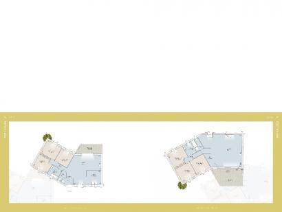Plan de maison Port d'Alon 93 CONTEMPORAINE 3 chambres  : Photo 1