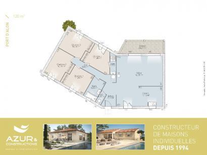 Plan de maison Port d'Alon 93 CONTEMPORAINE 3 chambres  : Photo 2