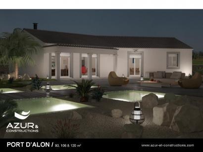 Modèle de maison Port d'Alon 93 CONTEMPORAINE 3 chambres  : Photo 1