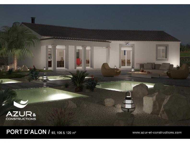 Modèle de maison Port d'Alon 93 CONTEMPORAINE : Vignette 1