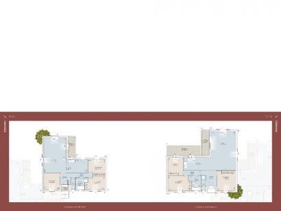 Plan de maison Romaine 104 CONTEMPORAINE 3 chambres  : Photo 1