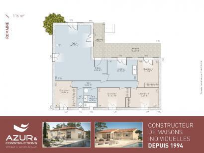 Plan de maison Romaine 104 CONTEMPORAINE 3 chambres  : Photo 2
