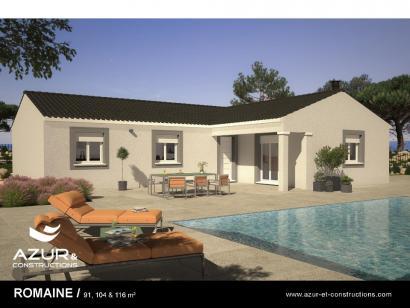 Modèle de maison Romaine 104 CONTEMPORAINE 3 chambres  : Photo 1