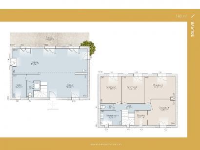 Plan de maison Bastide 140 contemporaine 3 chambres  : Photo 1