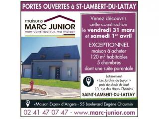 VISITEZ UNE MAISON MARC JUNIOR A SAINT LAMBERT DU LATTAY LES 31 MARS ET 1ER AVRIL