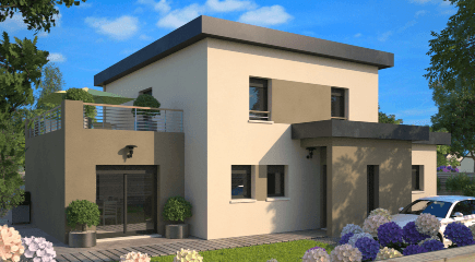 Plan de maison contemporaine Concept par Maisons France Confort