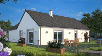 Plan de maison contemporaine Lumina par Maisons France Confort