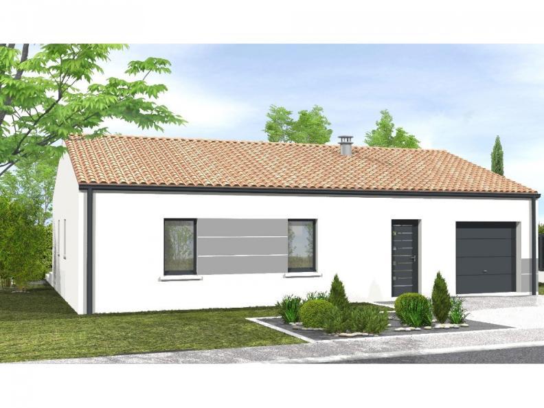 Modèle de maison Avant-projet MAREUIL SUR LAY - 65 m² - 2 chambres : Vignette 1