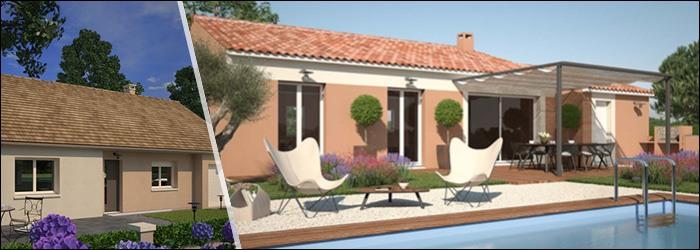 Plan de maison plain-pied de 3 chambres par Maisons France Confort