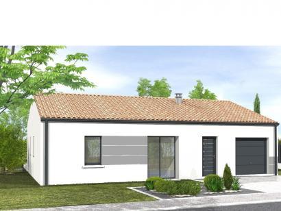Modèle de maison Avant-projet L'HERMENAULT - 70 m² - 2 chambres 2 chambres  : Photo 1