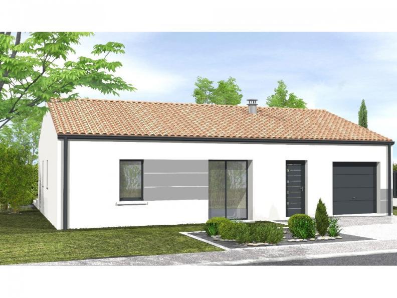 Modèle de maison Avant-projet L'HERMENAULT - 70 m² - 2 chambres : Vignette 1