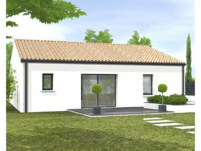 Modèle de maison Avant-projet L'HERMENAULT - 70 m² - 2 chambres 2 chambres  : Photo 2