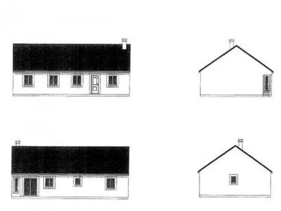 Plan de maison PLP_R_SG_102m2_4ch_P12321 4 chambres  : Photo 1