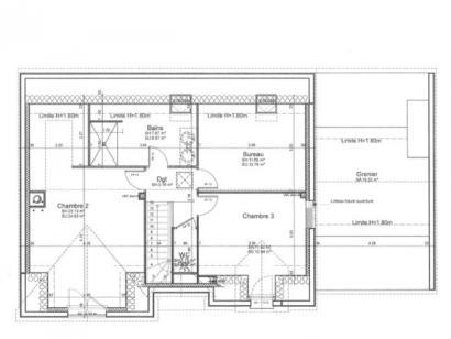 Plan de maison ETG_R_GA_136m2_4ch_P4423 4 chambres  : Photo 3